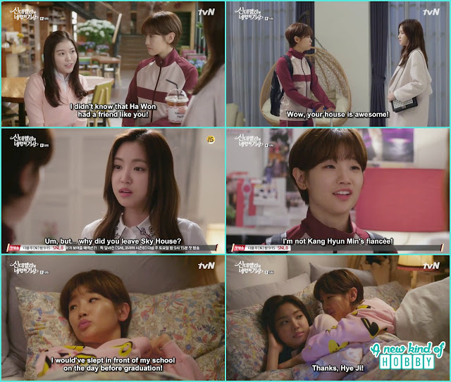 ha won at hye ji house she told her its a fake relationship with Hyun MIn  - Cinderella and Four Knights - Episode 6 Review -
