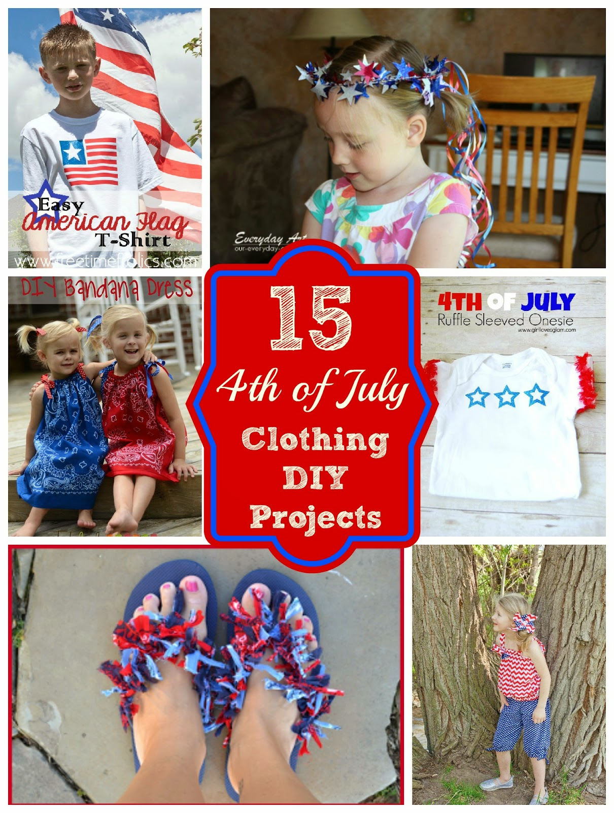 What To Wear Fourth Of July 15 Diy Clothing Projects Free Time Frolics