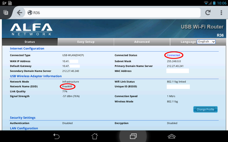 Alfa Network awus036h android driver