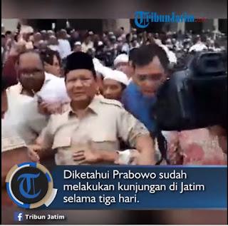 Capres Prabowo Subianto Kunjungi Masjid Agung Sunan Ampel