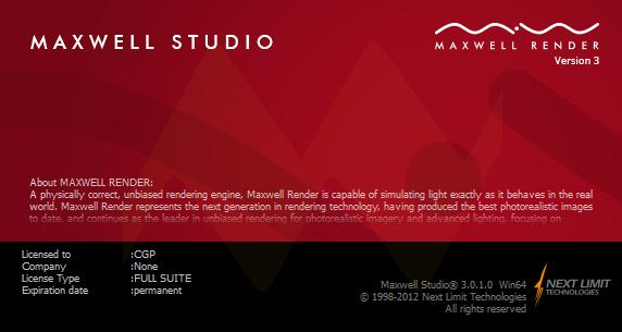 Maxwell Render Suite 3.0.1