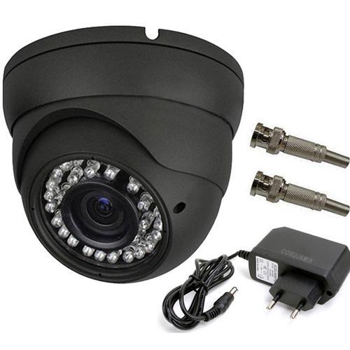 Tecnologia Camera Dome Ccd Infra Vermelho 24 Leds 30mts 1000 Linhas 3,6