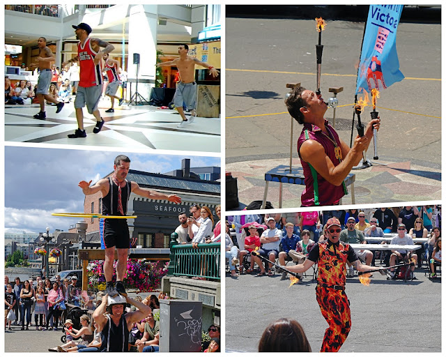 Dancers, jugglers and acrobats...