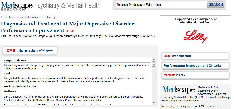 The Carlat Psychiatry Blog: ACCME Seeks to Hide Drug Company