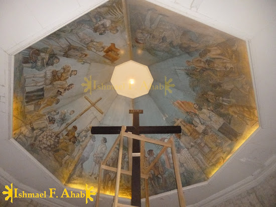 Mural on the ceiling of Magellan's Cross Shrine in Cebu City