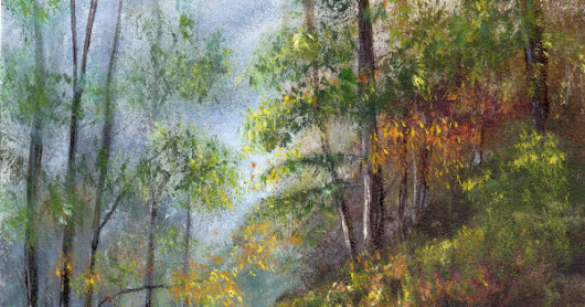 Autumn Woodlands in acrylics