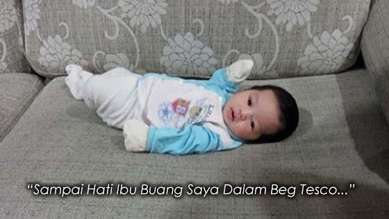 Bayi Ditemui Dalam Beg Tesco