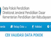 Cek Validasi Data Pokok