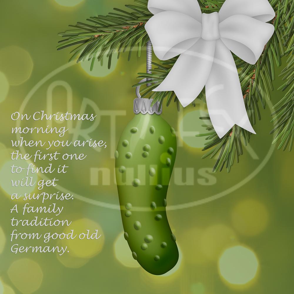Grüne Gurke Im Weihnachtsbaum.Artifactum Ver Bilis Blog Zitat Im Bild Und Türchen 15