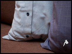 męskie poduszki ;) – poszewki z męskich koszul