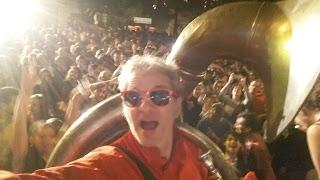 Geoff de la fanfare brass band Tahar Tag'l Taaartagueule TTGL au festival des fanfares à Montpellier le samedi 01 juillet 2017