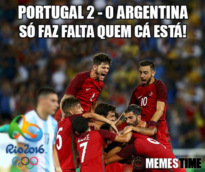 Memes Time Portugal 2 Argentina 0 Torneio de Futebol Rio 2016 – Portugal 2 Argentina 0 Só faz falta quem cá está!