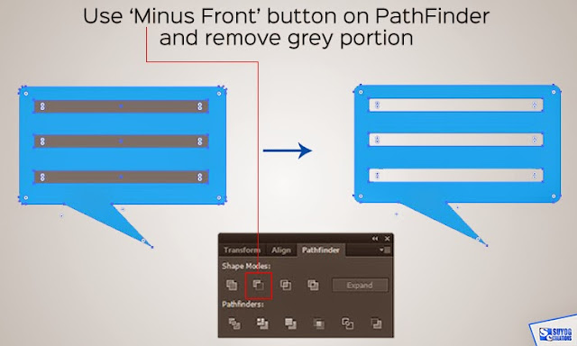 Pathfinder 'Minus Front' button