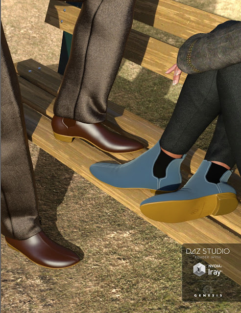 Chelsea Boots for Genesis 3 Male and Female