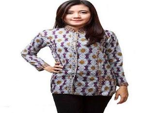 Model Blouse Batik Kerja Wanita Modern
