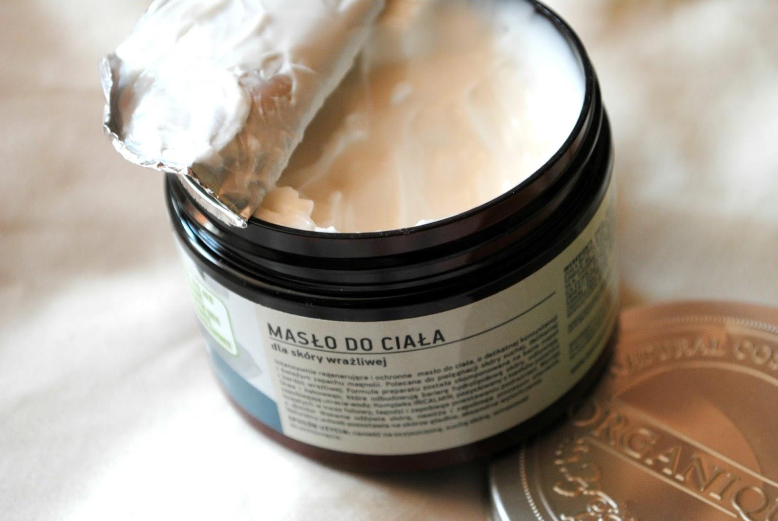 Masło do skóry wrażliwej Organique magnolia beautypediapatt