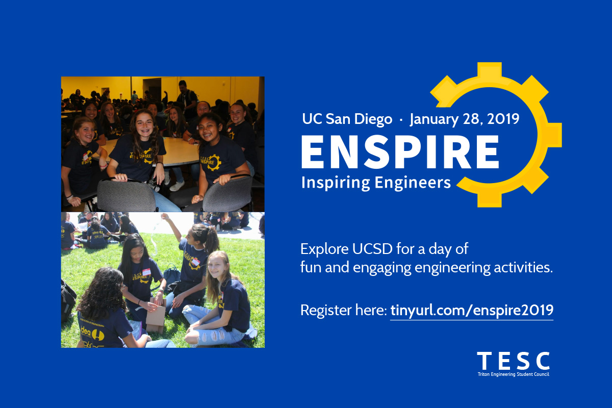 Student Opportunities: Enspire UCSD January 2019