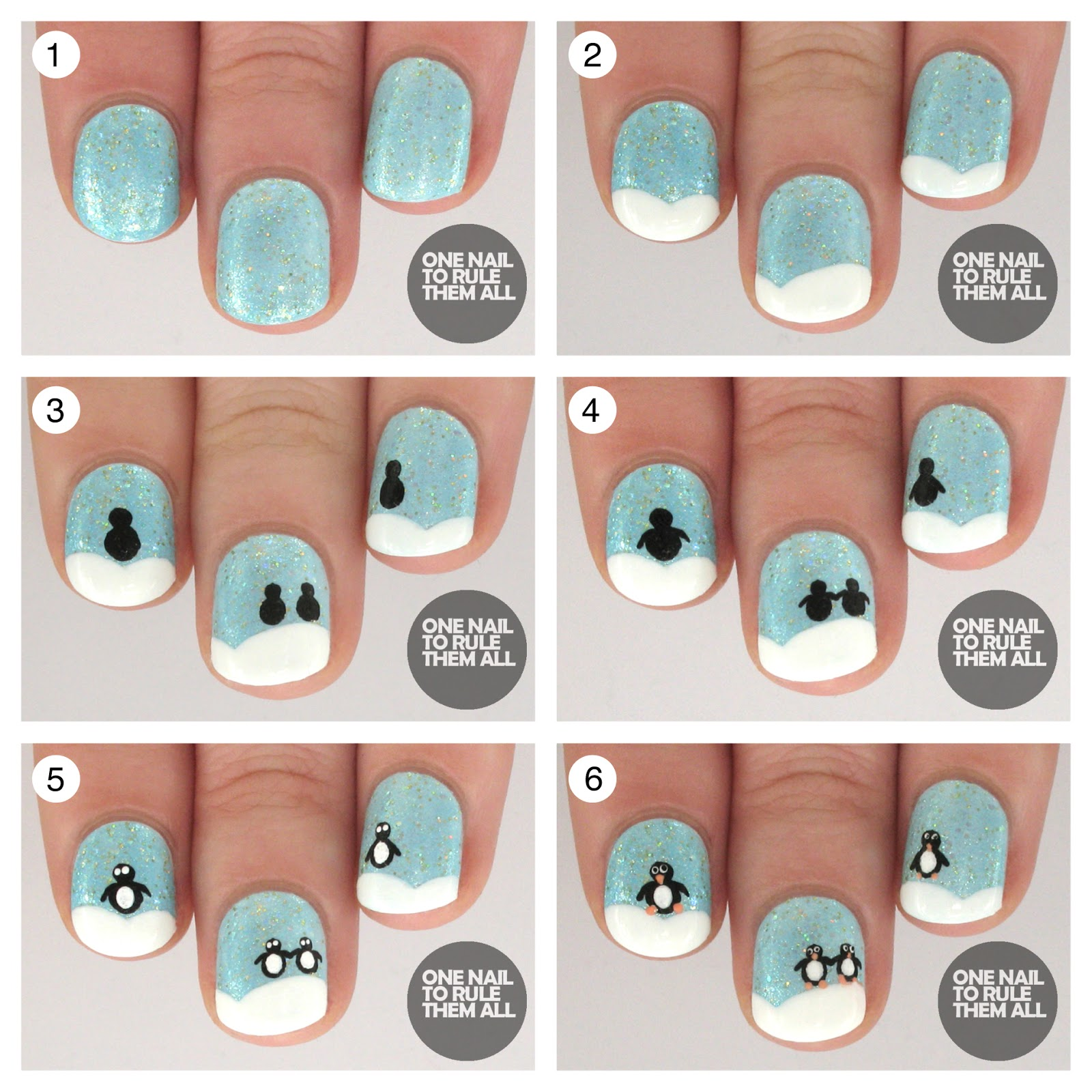 Penguin nail art tutorial   best nail designs 2018.