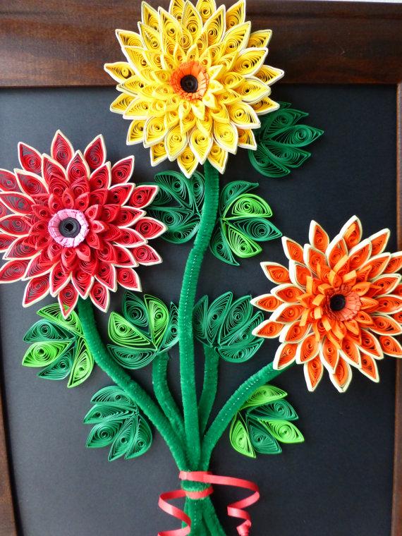 Quilling Flower Bouquet Designs 2015