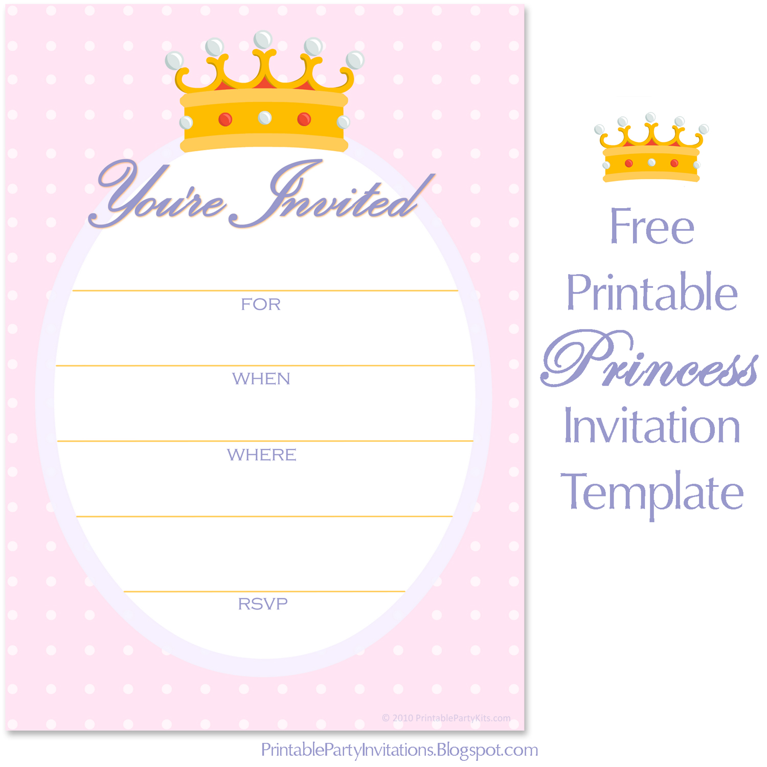 Free Printable Party Invitations Free Invitations For A Princess Birthday Party