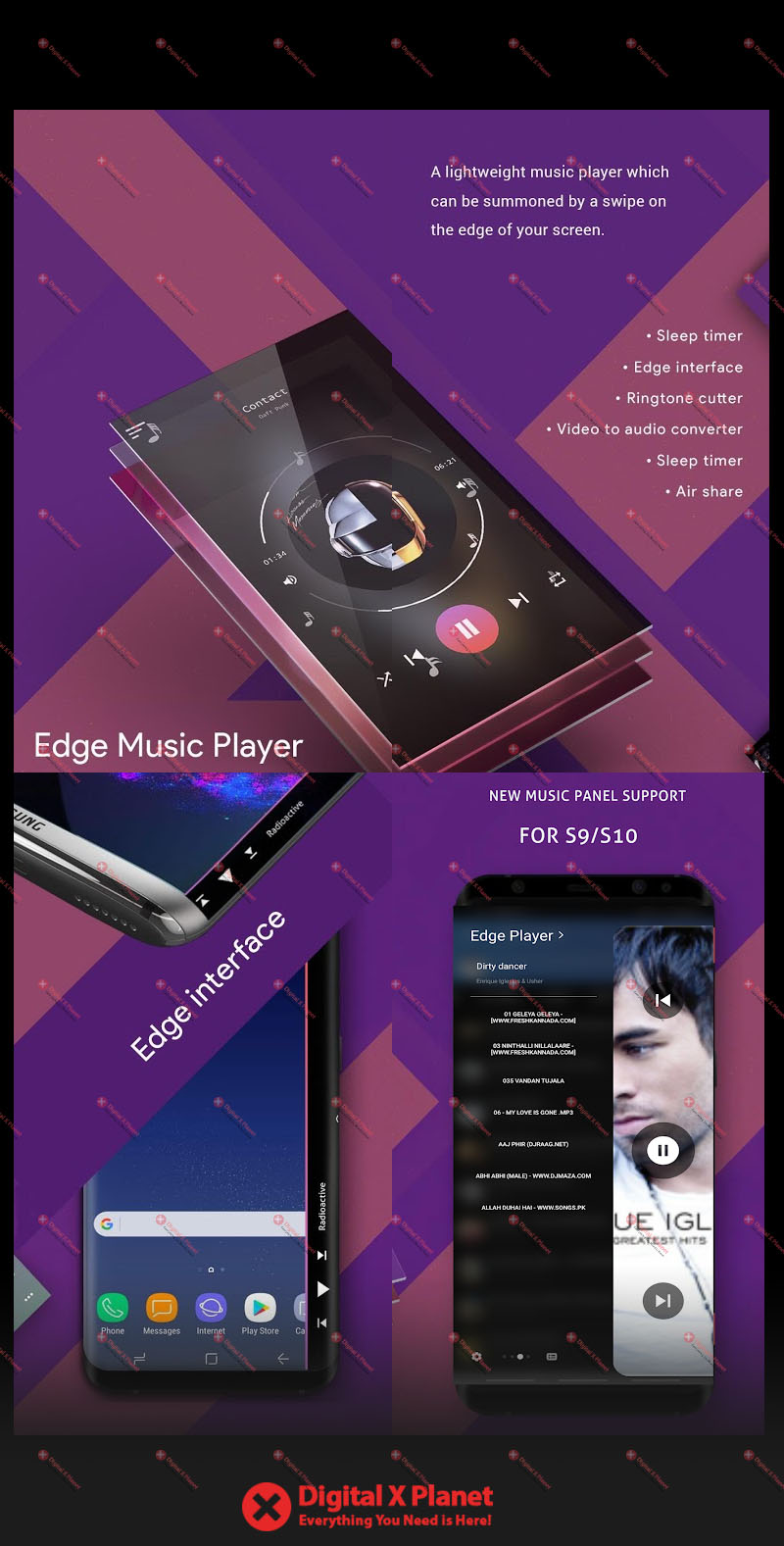 download s9 edge music player