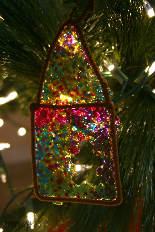 DIY Stained Glass Gingerbread Ornament for Christmas from The Educators' Spin On It