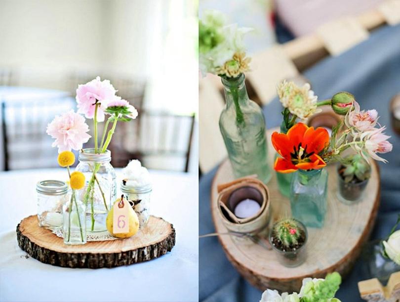 stół weselny, wedding table, rustykalne dekoracje, dodatki ślubne, ślub, drewno, kwiaty ślubne, literki na stół, inicjały, białe wesele,