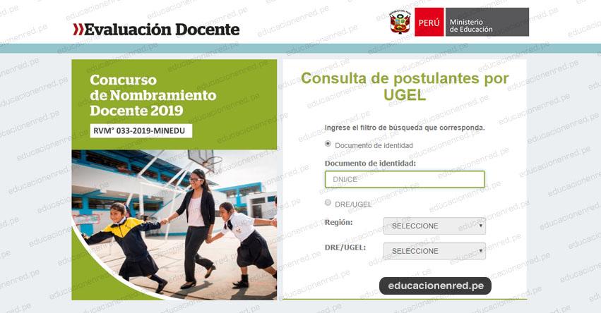 MINEDU: Lista de Postulantes para Contrato Docente 2020 - UGEL y DRE (Miércoles 18 Diciembre) www.minedu.gob.pe