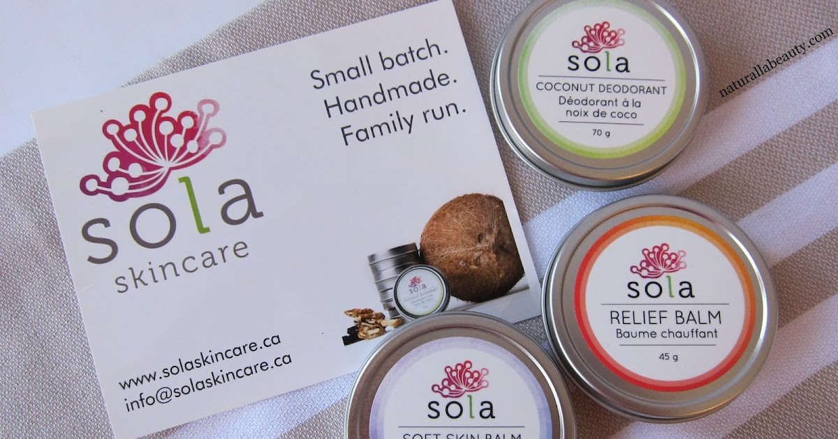 Naturalla beauty outstanding body care from sola skincare