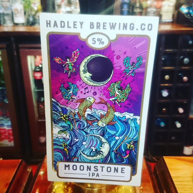 Yorkshire Craft Beer Review: Moonstone from Hadley Brewing real ale pump clip