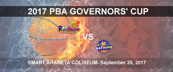 List of PBA Game(s) Friday September 29, 2017 @ Smart Araneta Coliseum