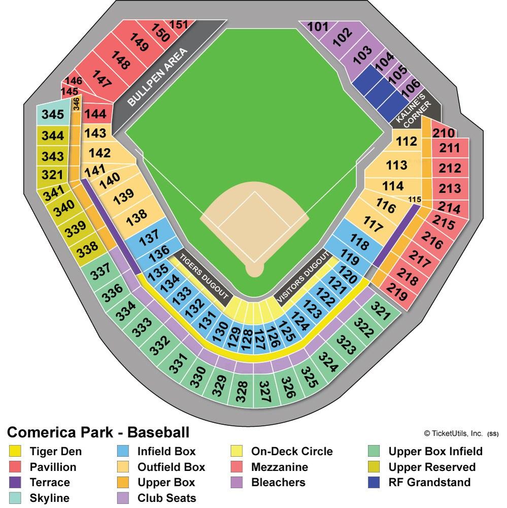 boudd: comerica park seating chart