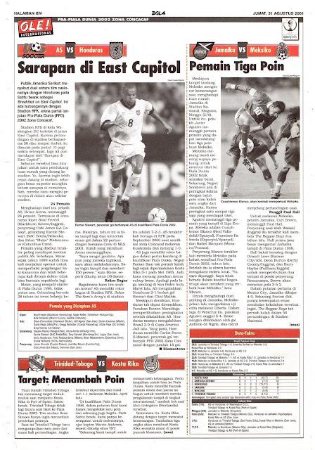 PRA-PIALA DUNIA 2002 ZONA CONCACAF AS VS HONDURAS