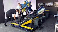 #FórmulaE Roborace en Buenos Aires con los colores de #Boca