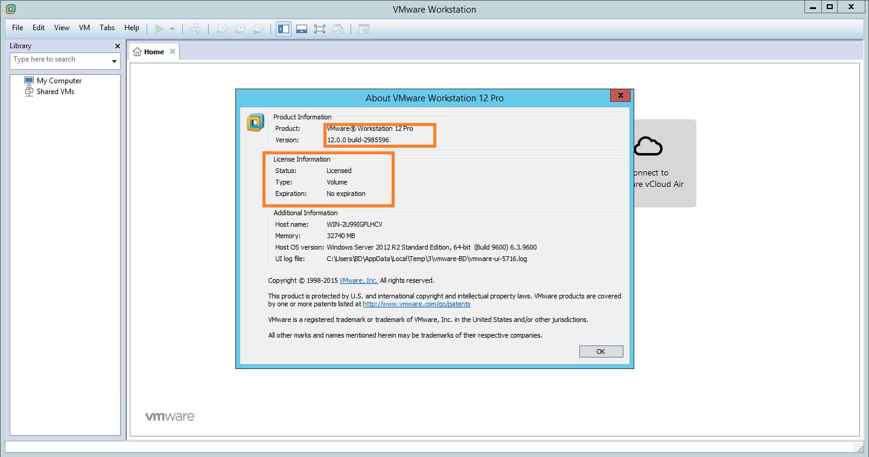 vmware workstation 12 pro full version keys
