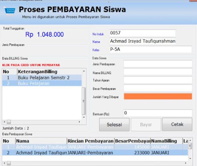 Aplikasi Pembayaran SPP Bulanan Siswa Terbaru 2017