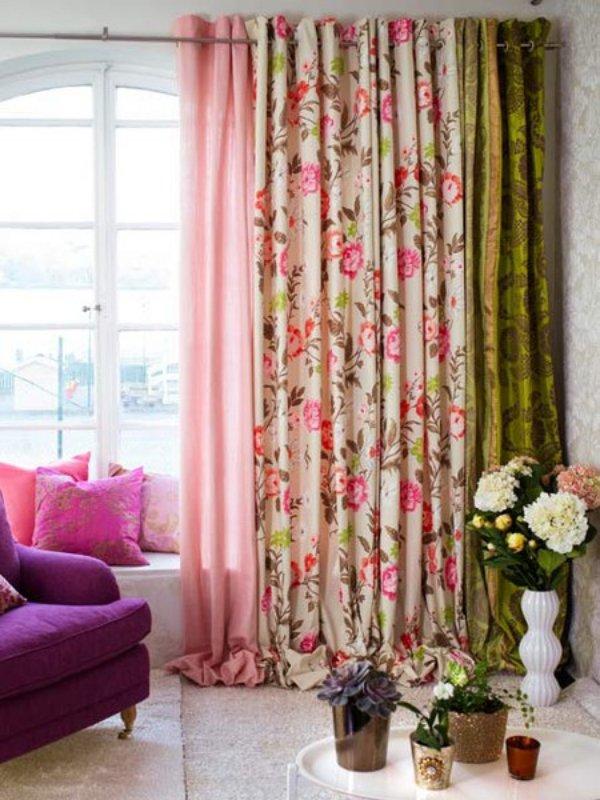 Pastel Colors Floral Design Curtain Ideas! RR Interiors