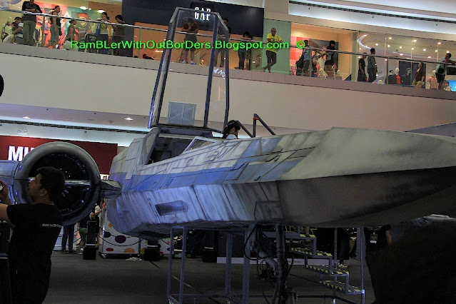 Star Wars' Rebel fighter jet, SM Mall of Asia, Manila, Philippines