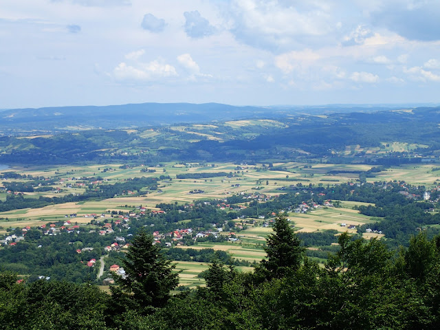 Widok z Liwocza - najwyższego szczytu Pogórza Ciężkowickiego