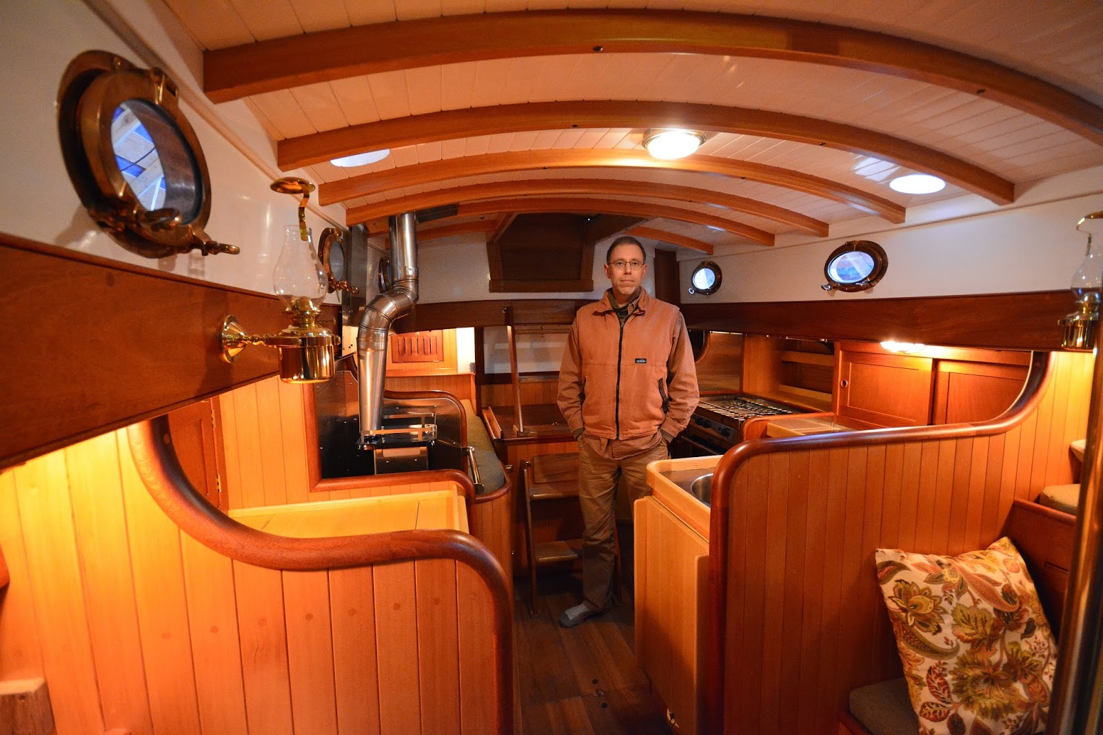 Building A 34 Ft Lyle Hess Falmouth Cutter Interior Photos