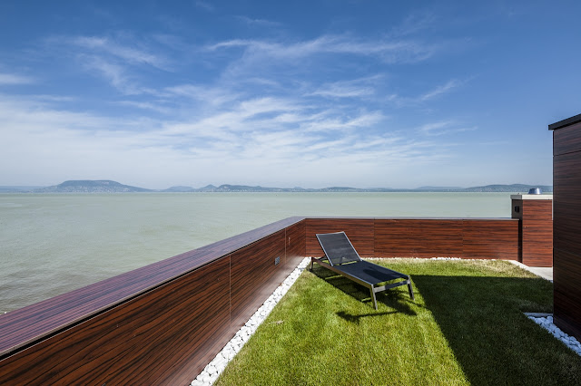 Rooftop terrace with grass and the view