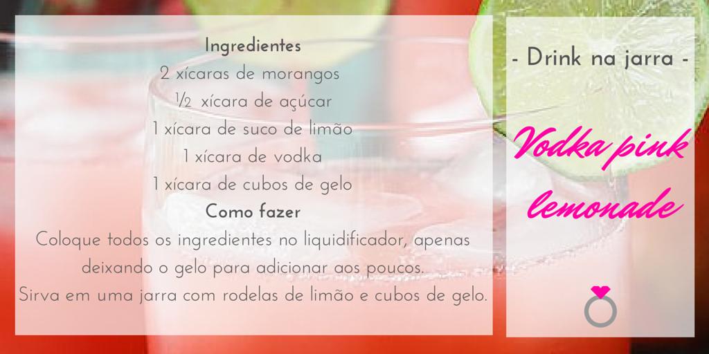 drink em jarra - limonada de morango com vodka