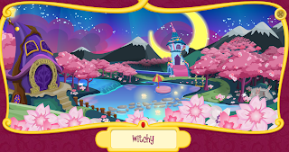 A screencap of the Witchy World portion of the Filly world website that is available on the German version of the Filly toy site.