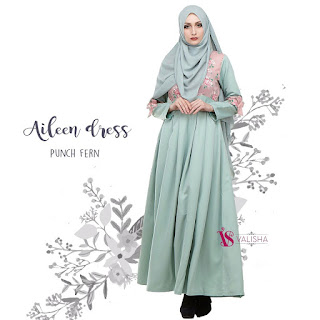 Gamis Valisha Aileen Dress Punch Fern