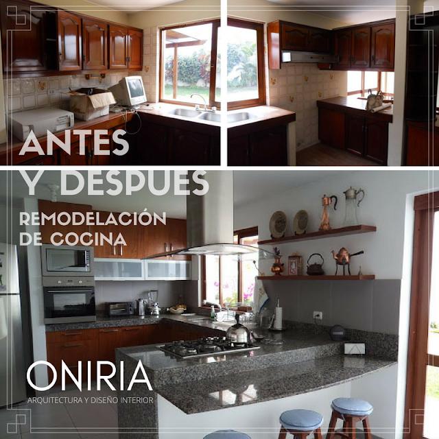 Oniria antes y despu s de remodelaci n de cocina for Cocinas antes y despues
