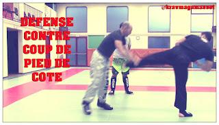 Défense contre coup de pied de côté en self défense