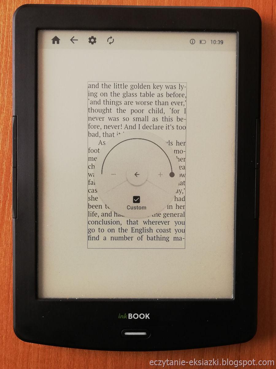 PocketBook Reader InkBOOK LUMOS – największa wartość marginesów