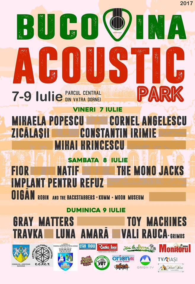 """Bucovina Acoustic Park"" începe de mâine la Vatra Dornei"