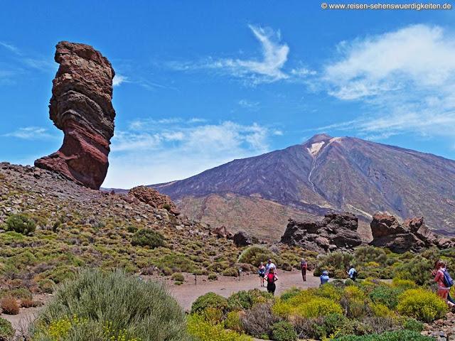 Zeigefinger Gottes  Roque Cinchado Nationalpark Las Canadas del Teide