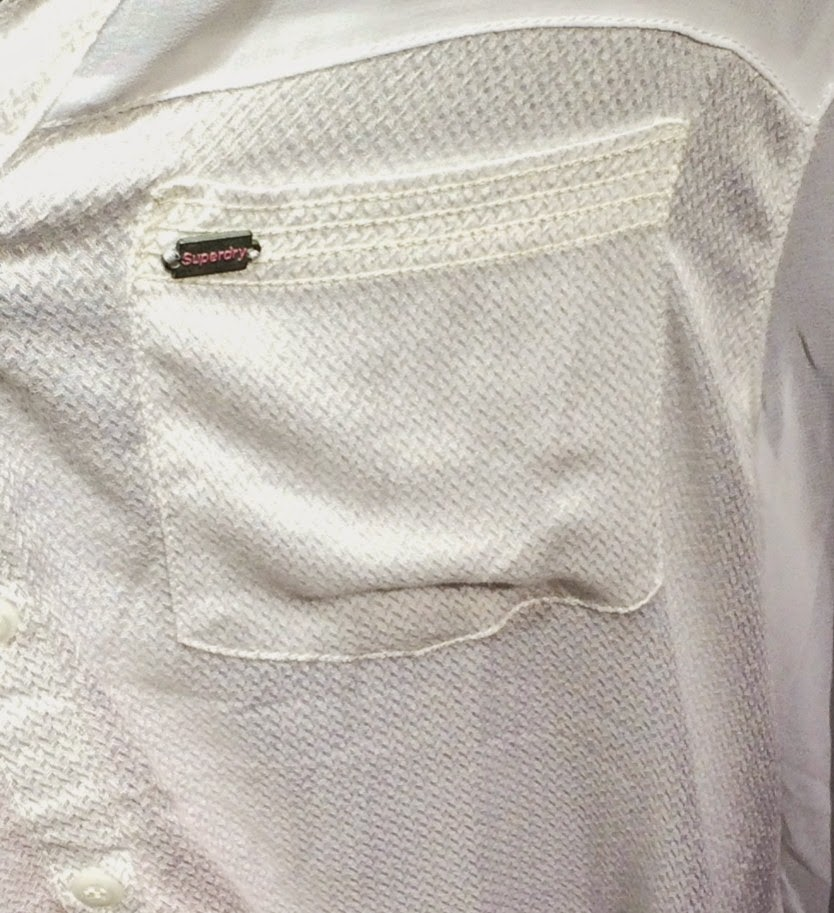 close up of textured white blouse